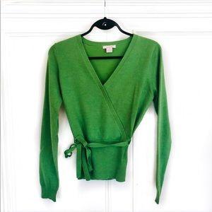 isaac mizrahi • long sleeve wrap top